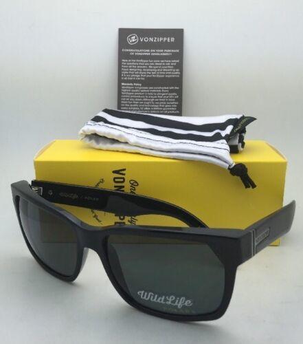 New VONZIPPER Sunglasses VZ ELMORE Black Frames w/WildLife Grey Polarized Lenses