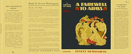 Ernest Hemingway A FAREWELL TO ARMS facsimile dust jacket for 1st and ea... - $29.35