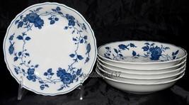 Fine China of Japan Royal Meissen * 6 FRUIT SAUCE DESSERT BOWLS * Blue &... - $29.95