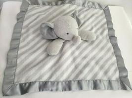 Target Cloud Island Elephant Security Blanket Gray White Stripe Baby Lov... - $13.84