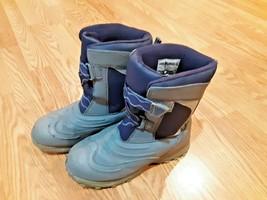 LL Bean Kids Size 6 Snow Tread Winter Boots Black Grey - $23.75