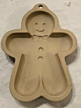 "Stoneware ""GINGERBREAD MAN"" Cookie Mold / Form...6""...Nice Condition - $9.89"