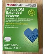 CVS Health Maximum Strength Mucus DM Extended Release Tablets 20ct EXP:9... - $9.24