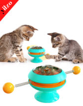 The New Gyro Funny Cat Ball Molar Bite-resistant Cat Toy Catnip Interact... - £38.93 GBP