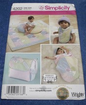 Sewing Pattern  *Simplicity 4202*   Baby Accessories Wrap bib bag    UNC... - $4.74