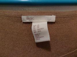 H&M Basic Long Sleeve Tan Shirt Sz XS image 5