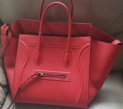 NWT Celine Vermillon drummed leather medium Phantom bag; Rtl $3100 - $2,302.92