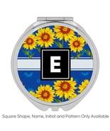 Rustic Sunflowers Row : Gift Compact Mirror Stripe Pattern Wall Decor Su... - £9.44 GBP+