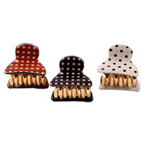 Set of 5 Small Hair Claws Polka Dots Hair Pins Lovely Hair Grips Random Colors