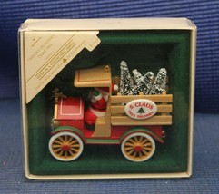 Hallmark Christmas Holiday 1984 Santa Delivery Collectible Boxed Tree Or... - $17.60