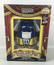 Official M&M BLUE Nutcracker Sweet Candy Dispenser New in Box (missing candy) - $12.50