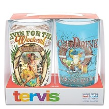 "Tervis ""Livin For The Weekend"" and ""Boat Drink"" Margaritaville Wrap Tumb... - $23.99"