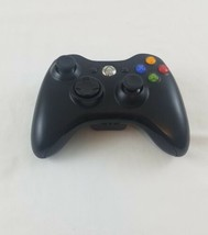 Official Microsoft Xbox 360 Wireless Controller Black Model 1403 Working  - $23.22