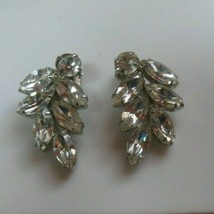 Weiss Faceted Prong Set Rhinestone Clip-on Earrings - $85.00