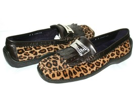 ❤️ DONALD J PLINER Italy Luxe Sport Jeweled Cheetah Calf-Hair Loafer 8 M... - $64.59