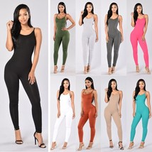 Autumn Winter Women Sexy Body Suit Backless Sleeveless Jumpsuits - $28.56