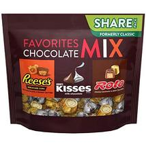 HERSHEY'S Chocolate Candy Assortment (KISSES, REESE'S, and ROLO), 10 oz Bag - $11.99