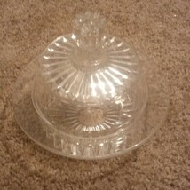 VINTAGE CRYSTAL CANDY DISH WITH LID, UNKNOWN make  - $23.75