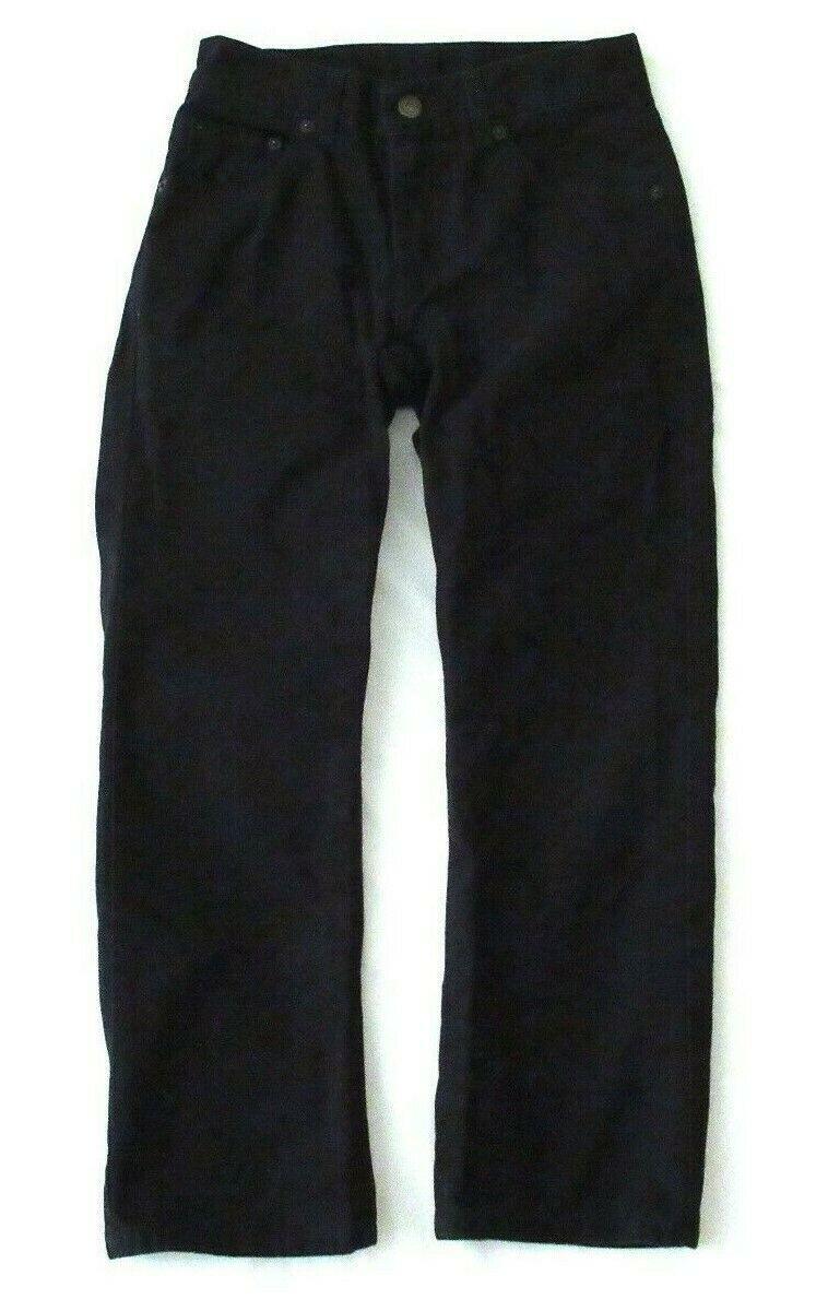Boys Levis 505 Straight Black Denim Jeans Size 10 Reg Short! Brushed Cotton Warm