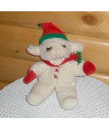 "Shari Lewis Lamb Chop in Elf Cap, Scarf & Mittens Plush 15"" Hand Body Pu... - $11.79"