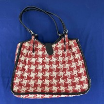 Vera Bradley Red/White Houndstooth Handbag Purse - $49.99