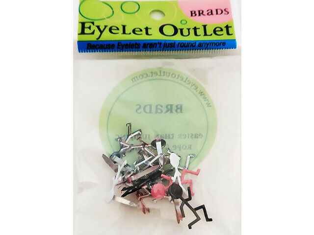 Eyelet Outlet People Brads, Set of 12
