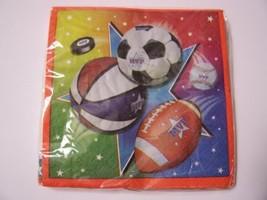 Beverage Napkins ~ Super Sports (Baseball, Football, Hockey, Soccer, Basketball  - $4.90