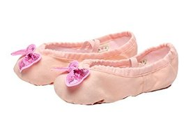 Ballet Shoes/Dance Shoes For Pretty Girl (22.5CM Length) Lignt Pink Bowknot
