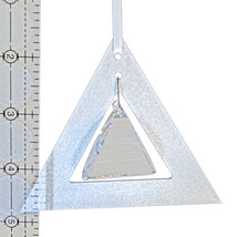Aluminum and Crystal Triangle Ornament  Pyramid Drop image 2