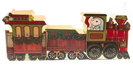 Vintage Hallmark Peanuts Snoopy Cardboard Christmas Train Boxes - $24.99