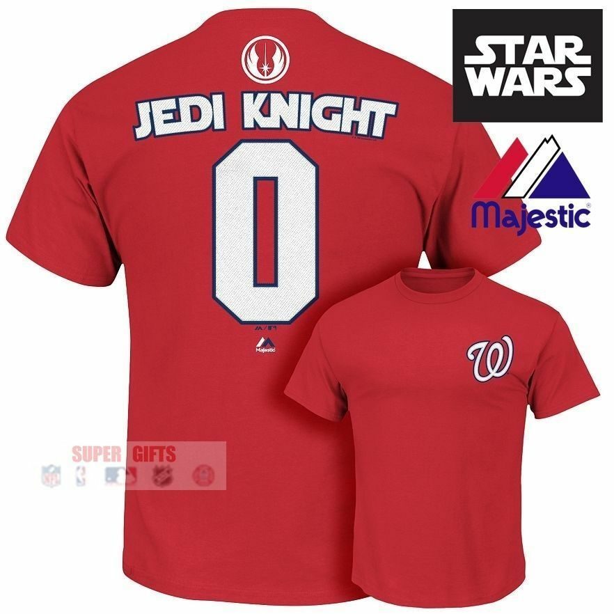 Washington Nationals NEW Star Wars Jedi Knight MLB Jersey Shirt Mens Majestic XL
