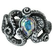 Alchemy of England Gothique Cthulhu Pieuvre Kraken Tentacles Swarovski Ring R231 - $31.25