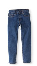 Faded Glory Boys Straight Leg Light Wash Jeans Size 8 Adjustable Waist  image 1