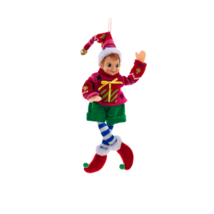 "Kurt Adler 12"" Retro Christmas Elf In Ugly Pink Sweater Christmas Ornament - $12.88"