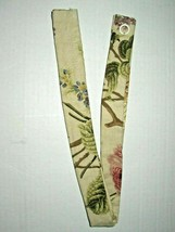 (1) Waverly Curtain Tie-Back w Tabs Emmas Garden Floral Brianna Tan Gree... - $10.64