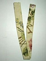 (1) Waverly Curtain Tie-Back w Tabs Emmas Garden Floral Brianna Tan Green 23.5in - $10.64