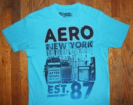 AEROPOSTALE / NEW YORK USA EST.1987 / HI-FI VINYL RECORDS / BLUE T-SHIRT... - $14.99