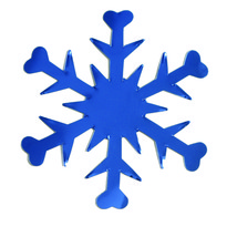 Snowflake Mylar Cut-Out Shapes Confetti Die Cut 15 pcs  FREE SHIPPING - £5.55 GBP