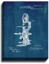 Band Sawing Machine Patent Print Midnight Blue on Canvas - $39.95+