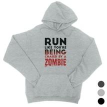 365 Printing Chased By Zombie Unisex Pullover Hoodie Creepy Cool Wonderf... - $25.99+