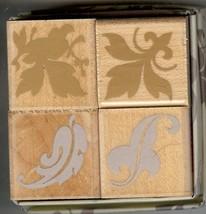 Hero Arts Rubber Stamp Set LL-608 Autumn Ornamental Leaves S42 - $9.74