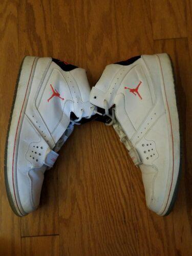 Nike Air Jordan 1 Flight Strap Mens Sz 13 White Red Basketball Shoes 628584-123