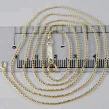 Yellow Gold Chain 750 18k Mini Balls Shiny Long 40 45 50 60 cm thickness 1 MM image 1