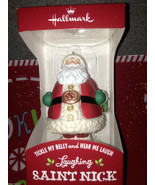 Hallmark 2013 Laughing Saint Nick Ornament - Santa Tickle Belly Chuckles... - $49.99