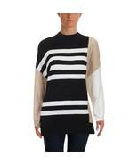 Vince Camuto Womens Drop Shoulder Colorblock Turtleneck Sweater Top Size... - $13.60
