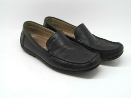 Ecco Mens Black Pebbled Leather Moc Toe Driving Loafers Size US 10.5 EW ... - $37.83