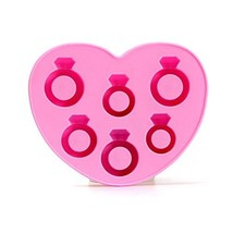 Love Ring Ice Cube Tray For Christmas, Halloween... Party - Pink Color - $6.49