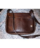 The Buffalo Billfold Co Brown Leather Crossbody Shoulder Bag Western Purse - $50.00
