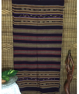Vintage Indonesian Textile, Handwoven Flores Ikat Sarong, Tapestry. - $325.00