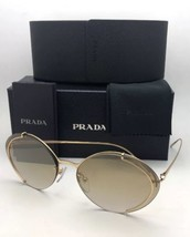 58d42797433f Prada Sunglasses Conceptual Spr 60U 5AK-2G2 Gold w  Brown Gradient Gold  Mirror -